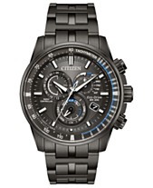 3824b043af37 Citizen Eco-Drive Men s Chronograph Perpetual Chrono A-T Gray Stainless  Steel Bracelet Watch 43mm