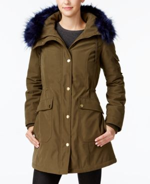 Image of 1 Madison Expedition Customizable Faux-Fur-Trim Anorak Coat