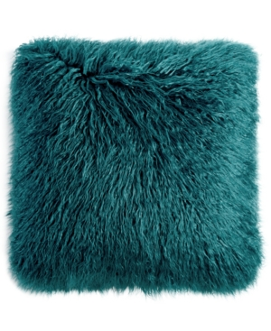 Martha Stewart Collection Faux Mongolian Fur Decorative Pillow Created for Macys Bedding