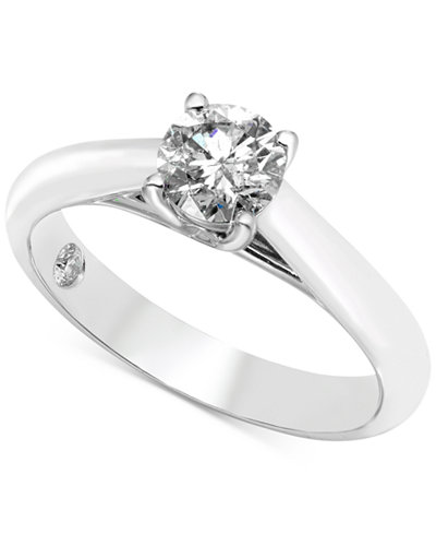 Diamond Solitaire Engagement Ring (3/4 ct. t.w.) in 14k White Gold