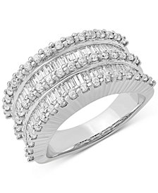 Diamond Multi-Row Statement Ring (1-1/2 ct. t.w.) in 14k White Gold