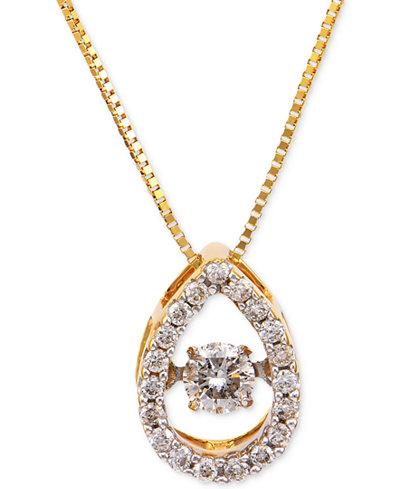 Diamond Pendant Necklace (1/4 ct. t.w.) in 14k Gold