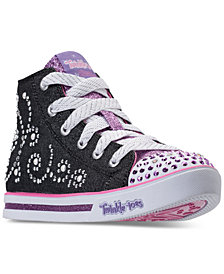 Skechers Little Girls' Twinkle Toes: Sparkle Glitz - Pearl Girl Light-Up High Top Casual Sneakers from Finish Line
