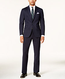 Kenneth Cole Reaction Men's Slim-Fit Navy Knit Techni-Cole Suit