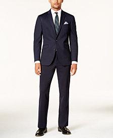 Kenneth Cole Reaction Men's Slim-Fit Navy Knit Techni-Cole Suit