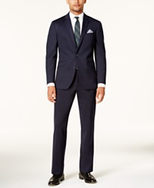 Kenneth Cole Reaction Men's Slim-Fit Navy Knit Ready Flex Suit