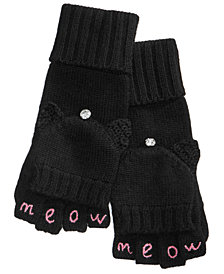 kate spade new york Meow Pop-Top Mittens