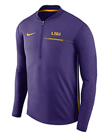Nike Men's LSU Tigers Coaches Quarter-Zip Pullover
