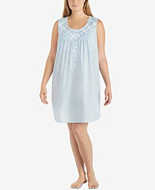 Eileen West Plus Size Sleeveless Nightgown
