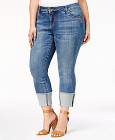 Kut from the Kloth Plus Size Cameron Straight-Leg Jeans