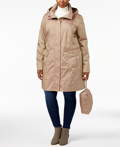 Cole Haan Signature Plus Size Packable Unlined Raincoat