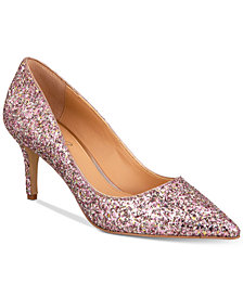 Jewel Badgley Mischka Lyla Glittered Evening Pumps