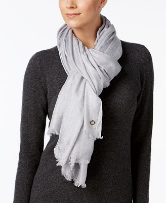 Calvin Klein Oversized Modal/Cashmere Blend Scarf & Wrap in One
