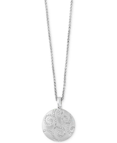Balissima by EFFY® Diamond Disc Pendant Necklace (3/8 ct. t.w.) in Sterling Silver