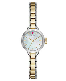 kate spade new york Women's Park Row Two-Tone Stainless Steel Bracelet Watch 24mm