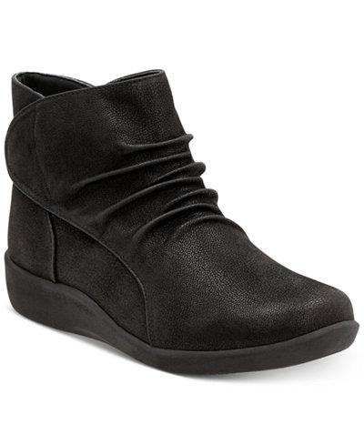 Clarks Women S Cloudsteppers Sillian Sway Booties Boots