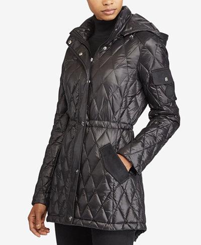 Lauren Ralph Lauren Diamond-Quilted Packable Down Jacket - Coats ... : ralph lauren jacket quilted - Adamdwight.com