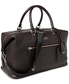 Polo Ralph Lauren Men's Pebbled Leather Duffel Bag