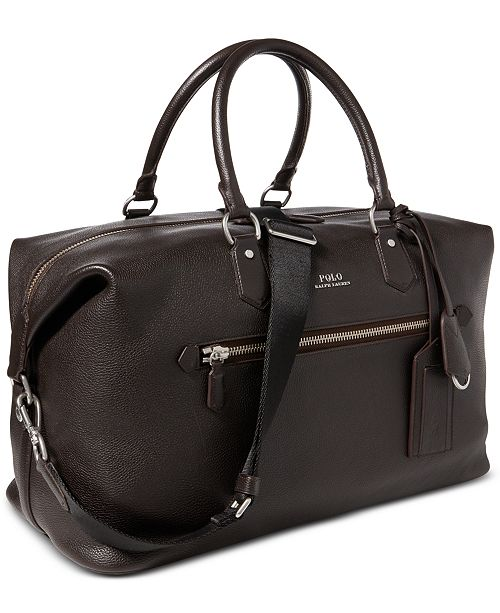 4033cd4d54a9 Polo Ralph Lauren Men's Pebbled Leather Duffel Bag & Reviews - All ...