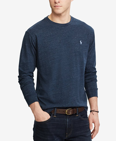 Polo ralph lauren men 39 s classic fit long sleeve t shirt for Long sleeve fitted polo shirts