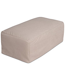 Brenalee Performance Fabric Slipcover Ottoman