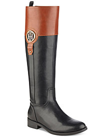 Tommy Hilfiger Ilia Wide Calf Riding Boots, Created for Macy's