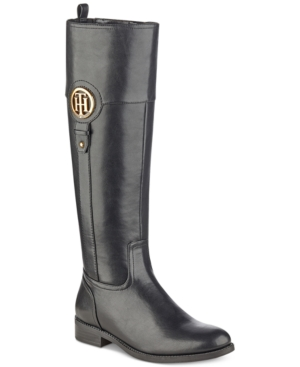 Tommy Hilfiger Low heels ILIA2 RIDING BOOTS, CREATED FOR MACY'S WOMEN'S SHOES