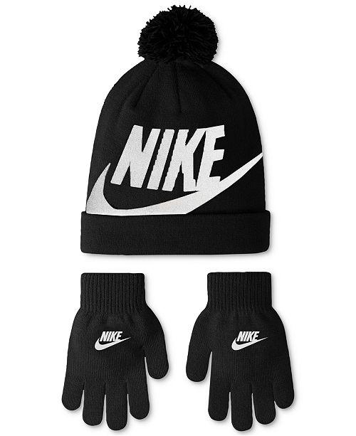 Nike 2-Pc. Swoosh Beanie   Gloves Set e2cdf8a0128