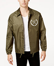 Ring of Fire Men's Coach's Jacket, Created for Macy's