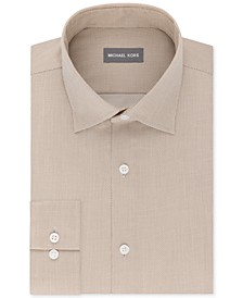 Men's Regular Fit Airsoft Stretch Non-Iron Performance Solid Dress Shirt