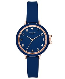 kate spade new york Women's Park Row Navy Silicone Strap Watch 34mm