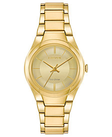 Citizen Eco-Drive Women's Gold-Tone Stainless Steel Bracelet Watch 29mm