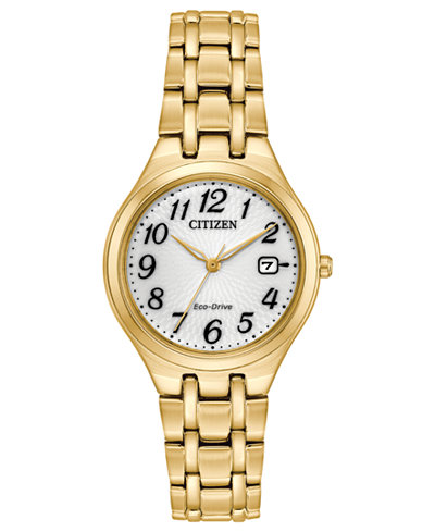 Citizen Eco-Drive Women's Gold-Tone Stainless Steel Bracelet Watch 28mm