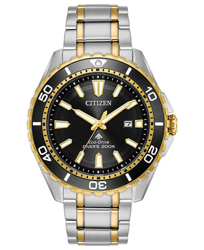 Citizen Eco-Drive Men's Promaster Diver Stainless Steel Bracelet Watch 44mm, Created for Macy's