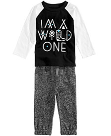 First Impressions Baby Boys (0-24 months) Wild One-Print T-Shirt & Jogger Pants, Created for Macy's
