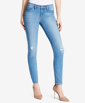 Juniors' Kiss Me Destructed Skinny Jeans by Jessica Simpson