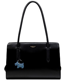 Liverpool Street Zip-Top Leather Tote
