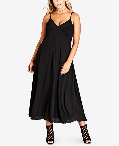 City Chic Trendy Plus Size Boho Chic Maxi Dress Dresses Plus