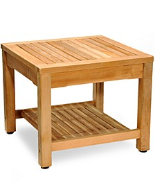 Teak Outdoor Side Table, Created for Macy's