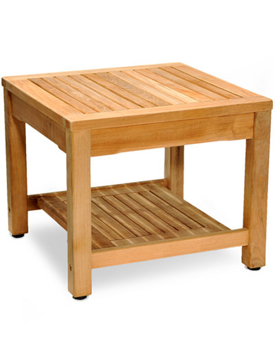 Teak outdoor side table furniture macy 39 s for Outdoor teak side table