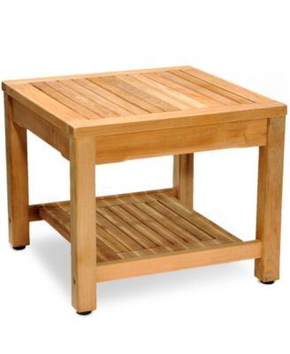 teak outdoor side table created for macyu0027s