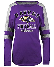 Women's Baltimore Ravens Space Dye Long Sleeve T-Shirt