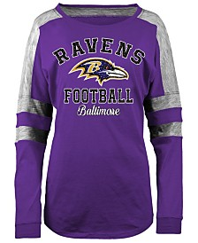 5th & Ocean Women's Baltimore Ravens Space Dye Long Sleeve T-Shirt