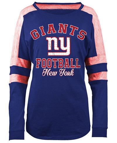 5th & Ocean Women's New York Giants Space Dye Long Sleeve T-Shirt