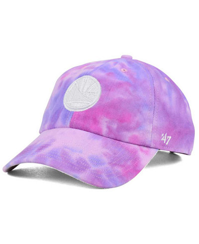 '47 Brand Golden State Warriors Pink Tie-Dye CLEAN UP Cap