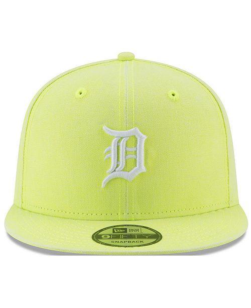 quality design 2d40a 3fd48 ... New Era Detroit Tigers Neon Time 9FIFTY Snapback Cap ...