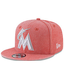 New Era Miami Marlins Neon Time 9FIFTY Snapback Cap