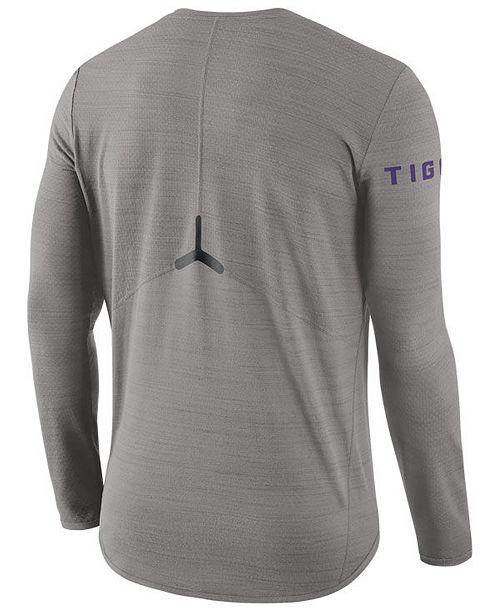 bd624d55 Nike Men's LSU Tigers Dri-Fit Breathe Long Sleeve T-Shirt & Reviews ...