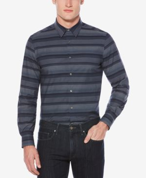 Perry Ellis Men's Classic-Fit Striped Stretch Shirt thumbnail