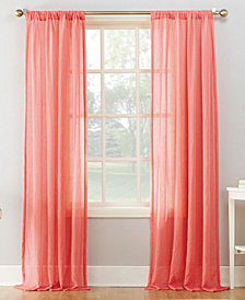 "Lichtenberg No. 918 Silvia Semi-Crushed Sheer Rod Pocket 50"" x 95"" Curtain Panel"